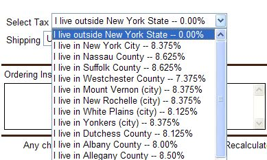 New York State Sales Tax Rate >> State Sales Tax State Sales Tax Rates By Zip Code