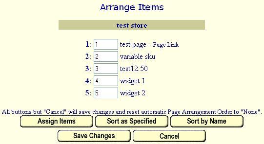 Manually Arrange Items