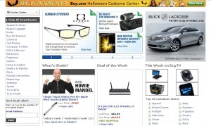 buy.com homepage - hits all the points