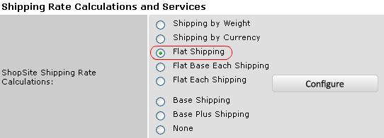 Flat Shipping