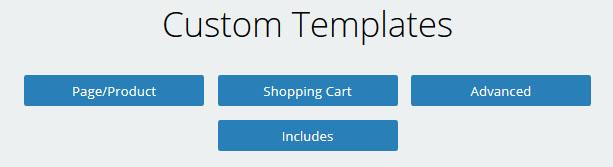 Custom Template  Categories