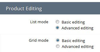 Basic or Advanced Editing