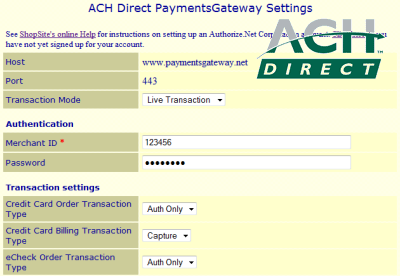 ACH Direct PaymentsGateway