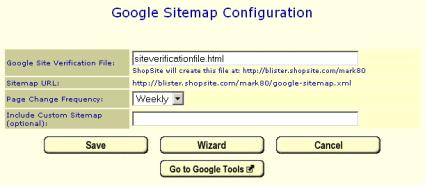 Create Google Sitemaps