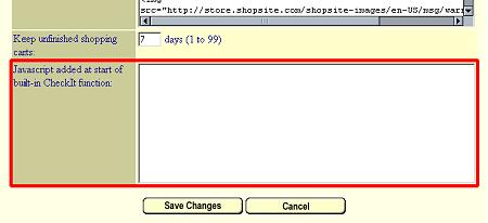 Merchant Check-out JavaScript