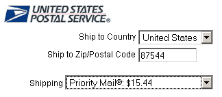 USPS Real-time Shipping Quotes